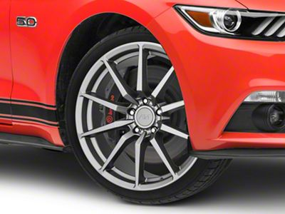 GT350 Style Charcoal Wheel - 19x8.5 (15-19 GT, EcoBoost, V6)