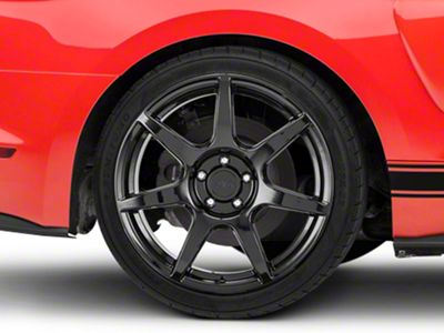 GT350R Style Black Wheel - 19x10 - Rear Only (15-19 GT, EcoBoost, V6)