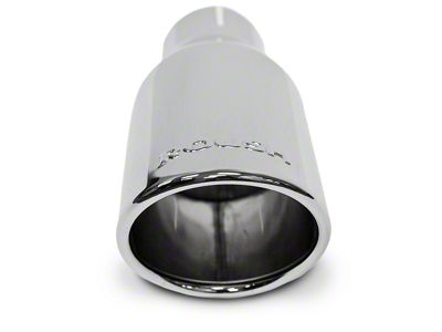 Roush 4 in. Stainless Steel Exhaust Tip - Chrome Flashing (11-14 All)