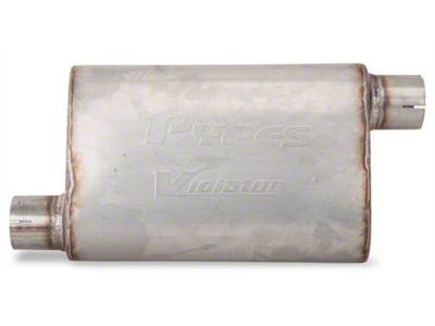 Pypes Violator Offset/Offset Oval Muffler - 2.5 in. (Universal Fitment)