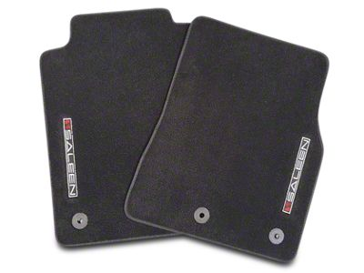 Saleen Front & Rear Floor Mats w/ Saleen Logo - Black (10-14 All)