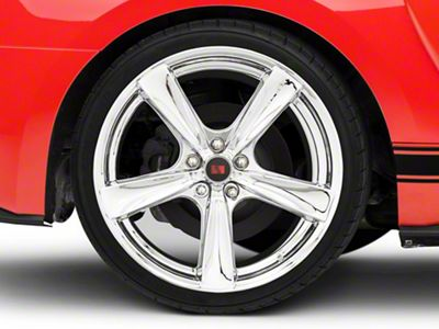 Saleen Secca Flo-Form Chrome Wheel - 20x10 - Rear Only (15-19 GT, EcoBoost, V6)