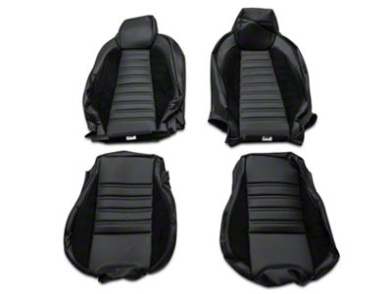 Sport R Full Seat Upholstery & Front Bucket Foam - Black (15-19 Fastback)