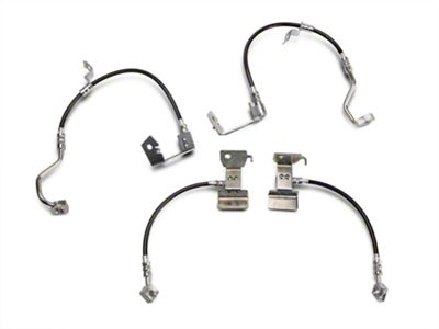 J&M Stainless Steel Teflon Brake Hoses - Front & Rear (05-14 All w/ABS, Excluding 13-14 GT500)