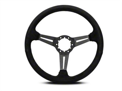OPR 3 Spoke Steering Wheel w/ Slots - Black Suede (84-04 All)