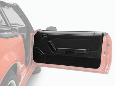 OPR Convertible Door Panels for Power Windows - Black (87-93 Convertible)