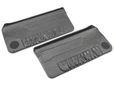 OPR Convertible Door Panels for Manual Windows - Smoke Gray (87-93 Convertible)