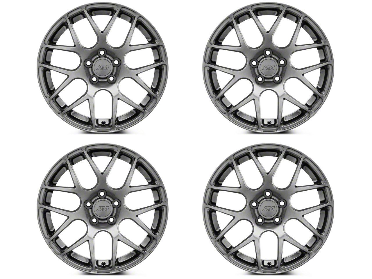 AMR Dark Stainless 4 Wheel Kit - 18x9 (05-14 All)