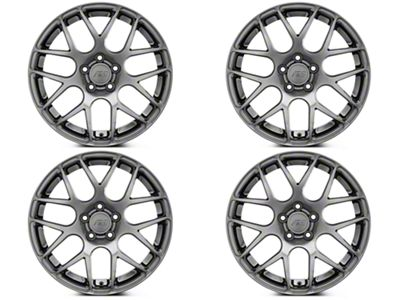 Staggered AMR Dark Stainless 4 Wheel Kit - 18x9/10 (05-14 All)