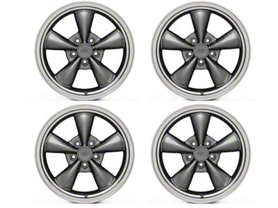 Bullitt Anthracite 4 Wheel Kit - 17x9 (94-04 All)