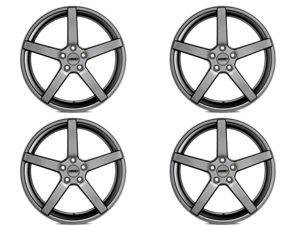 MMD 551C Charcoal 4 Wheel Kit - 20x8.5 (15-19 GT, EcoBoost, V6)