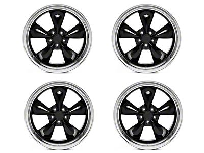 Deep Dish Bullitt Black 4 Wheel Kit - 20x8.5 (05-10 GT; 05-14 V6)
