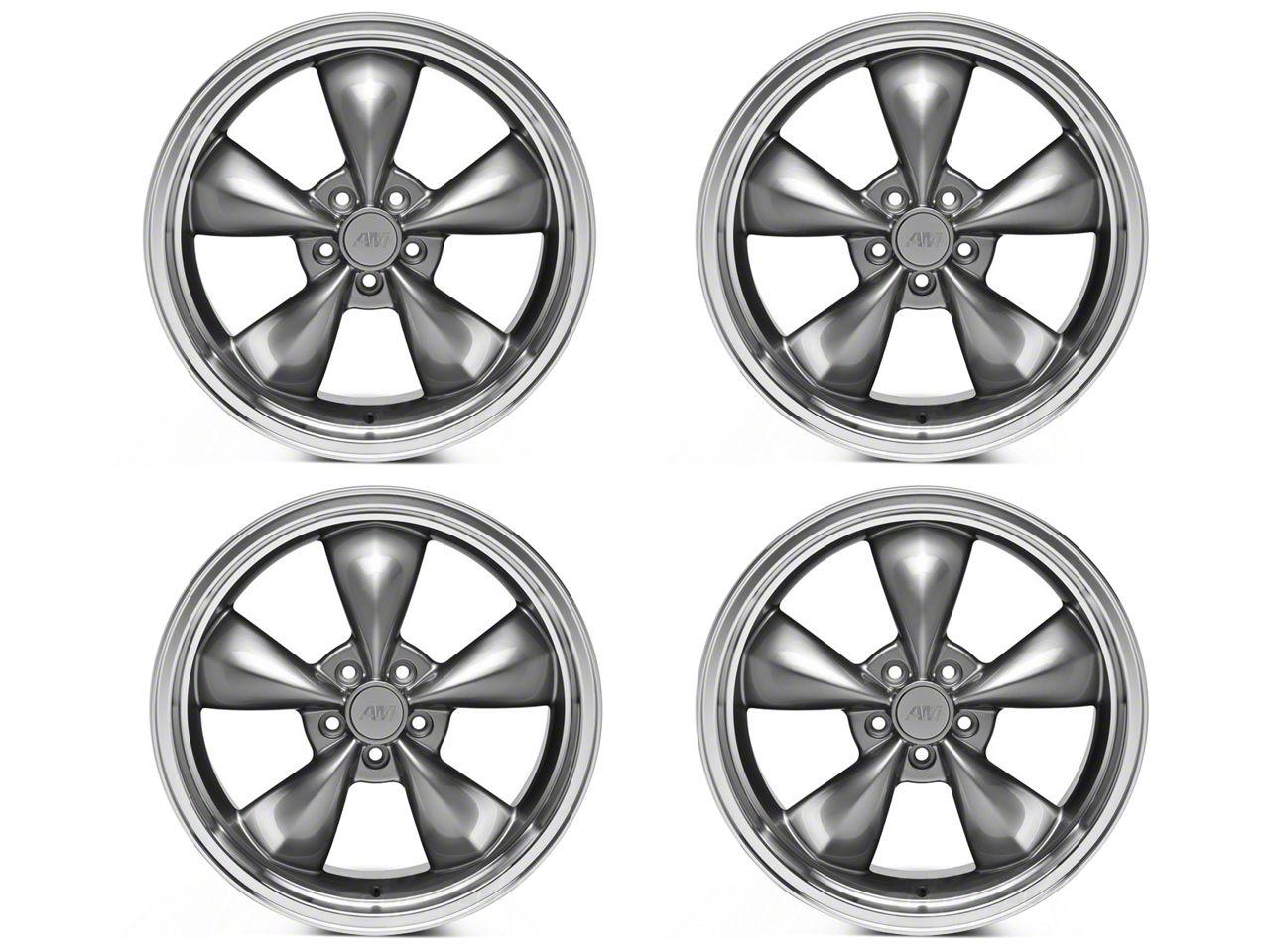 Deep Dish Bullitt Anthracite 4 Wheel Kit - 20x8.5 (05-10 GT; 05-14 V6)