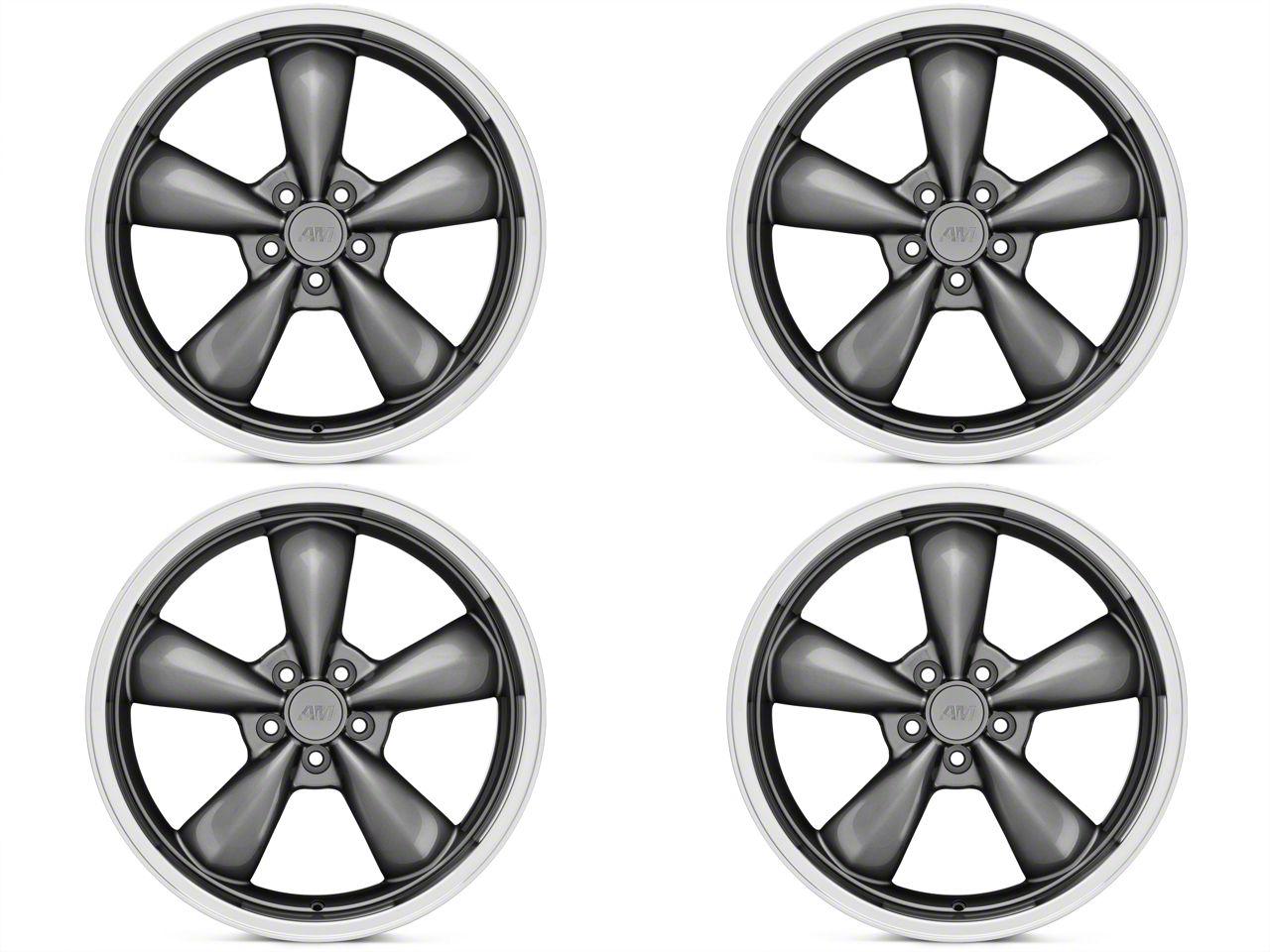 Staggered Deep Dish Bullitt Anthracite 4 Wheel - 20x8.5/10 (05-10 GT; 05-14 V6)