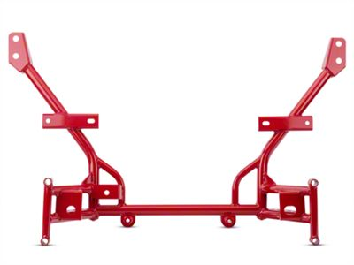 BMR Tubular K-Member - Lowered Motor Mounts - Red (05-14 All)