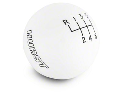 Hurst 6-Speed Shift Knob - White (15-19 GT, EcoBoost, V6)