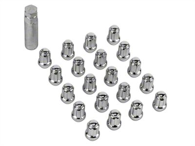 Chrome 6 Spline Lug Nut Kit - 14mm x 1.5 (15-19 All)