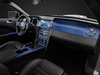 American Muscle Graphics Blue Carbon Fiber Dash Kit (05-09 All)