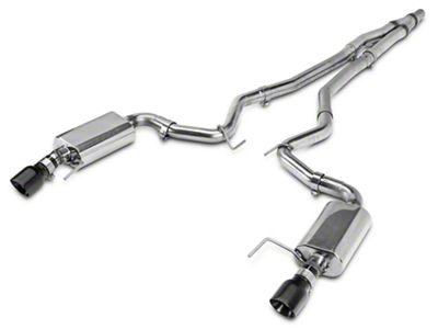 Kooks Cat-Back Exhaust w/ Black Tips (15-19 EcoBoost w/o Active Exhaust)