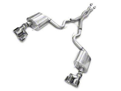 Corsa Sport 3 in. Cat-Back Exhaust - Polished Quad Tips (15-17 GT Premium Fastback; 18-19 GT Fastback w/o Active Exhaust)