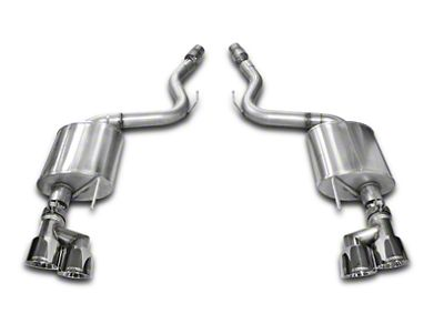 Corsa Touring 3 in. Axle-Back Exhaust w/ Polished Quad Tips (15-17 GT Premium Fastback; 18-19 GT Fastback w/o Active Exhaust)