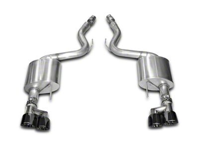 Corsa Sport 3 in. Axle-Back Exhaust w/ Black Quad Tips (15-17 GT Premium Fastback; 18-19 GT Fastback w/o Active Exhaust)