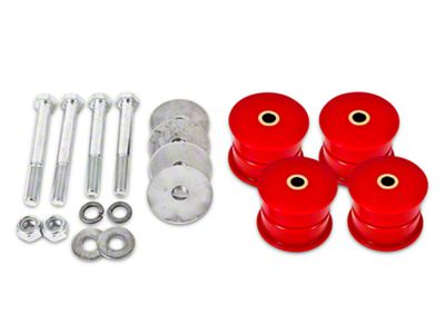 BMR IRS Differential Bushing Kit - Red Polyurethane (15-19 All)