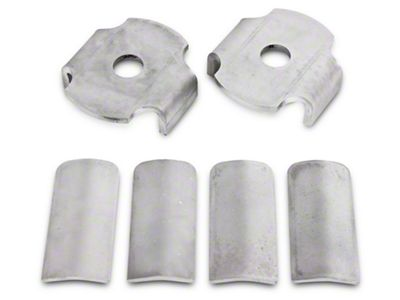 BMR Rear Cradle Bushing Inserts - Bare Steel (15-19 All)