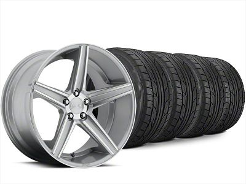 Niche Apex Machined Silver Wheel & NITTO NT555 G2 Tire Kit - 20x8.5 (15-19 All)