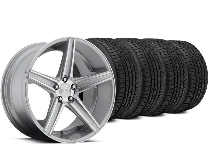 Niche Apex Machined Silver Wheel & Michelin Pilot Sport A/S 3+ Tire Kit - 20x8.5 (15-19 All)