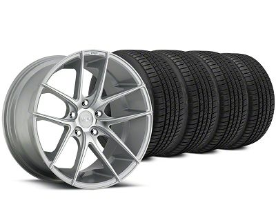 Niche Targa Matte Silver Wheel & Michelin Pilot Sport A/S 3+ Tire Kit - 19x8.5 (15-19 All)