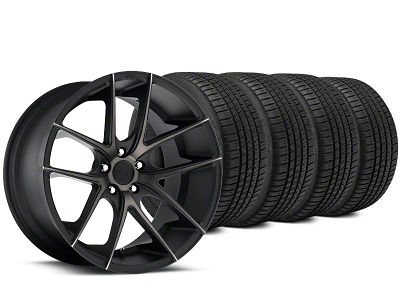 Niche Targa Matte Black Wheel & Michelin Pilot Sport A/S 3+ Tire Kit - 20x8.5 (15-19 All)