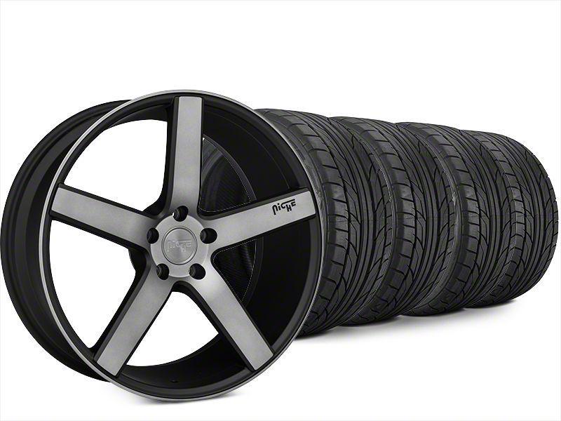 Niche Milan Matte Black Machined Wheel & NITTO NT555 G2 Tire Kit - 20x8.5 (15-19 All)