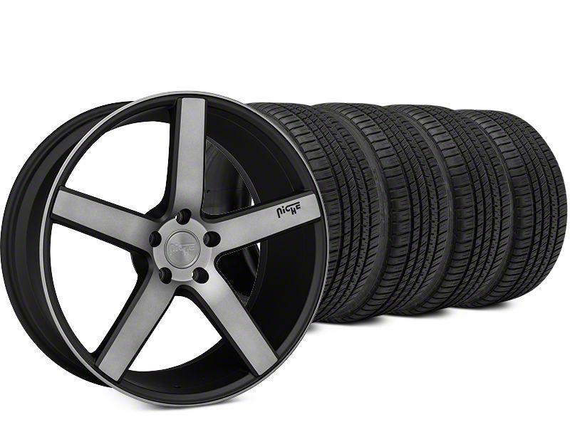 Niche Milan Matte Black Machined Wheel & Michelin Pilot Sport A/S 3+ Tire Kit - 20x8.5 (15-19 All)