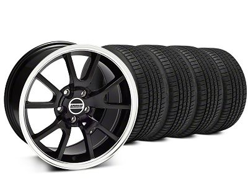 FR500 Style Black Wheel & Michelin Pilot Sport A/S 3+ Tire Kit - 20x8.5 (15-19 All)