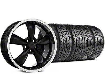 Staggered Bullitt Black Wheel & NITTO G2 Tire Kit - 17x9/10.5 (99-04 All)