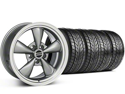 Staggered Bullitt Anthracite Wheel & NITTO G2 Tire Kit - 17x9/10.5 (99-04 All)