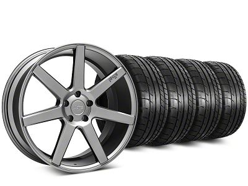 Niche Verona Anthracite Wheel & Mickey Thompson Street Comp Tire Kit - 20x9 (15-19 GT, EcoBoost, V6)