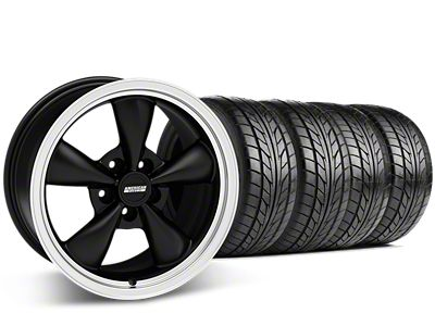 Staggered Bullitt Matte Black Wheel & NITTO G2 Tire Kit - 17x9/10.5 (99-04 All)
