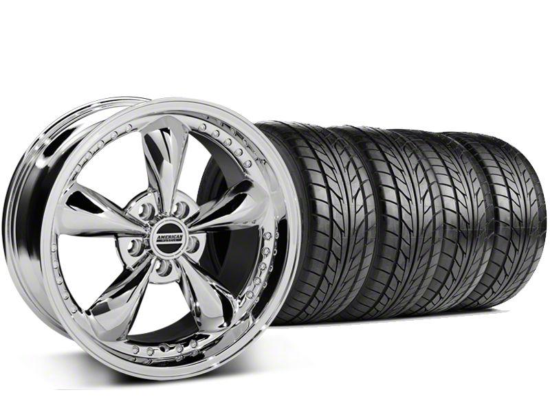 Bullitt Motorsport Chrome Wheel & NITTO G2 Tire Kit - 18x9 (99-04 All)