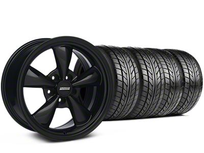 Staggered Bullitt Solid Black Wheel & NITTO G2 Tire Kit - 17x9/10.5 (99-04 All)