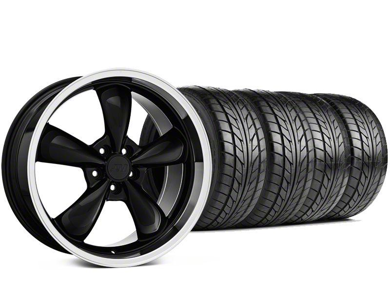 Bullitt Black Wheel & NITTO G2 Tire Kit - 18x9 (99-04 All)