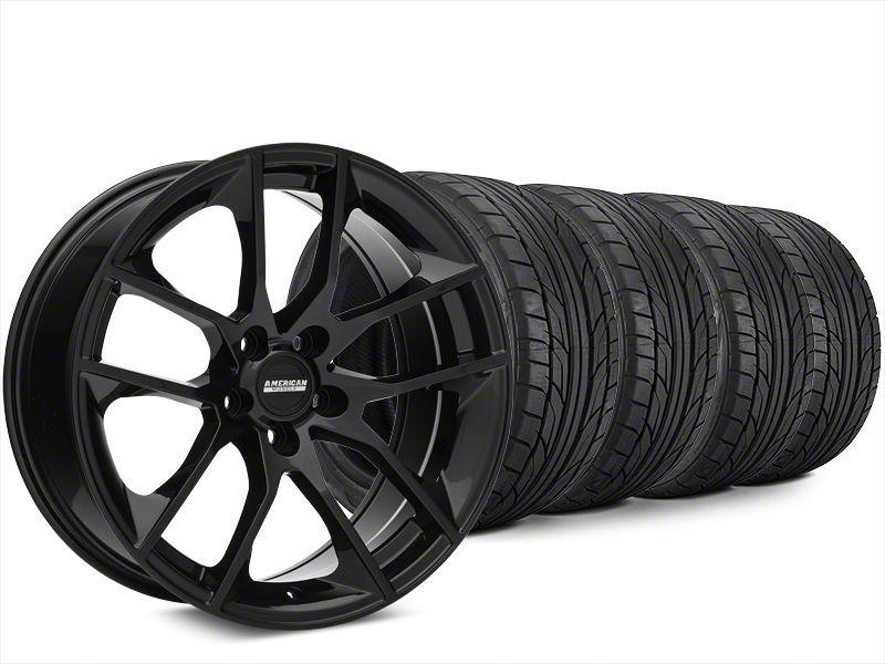 Magnetic Style Black Wheel & NITTO NT555 G2 Tire Kit - 20x8.5 (15-19 GT, EcoBoost, V6)