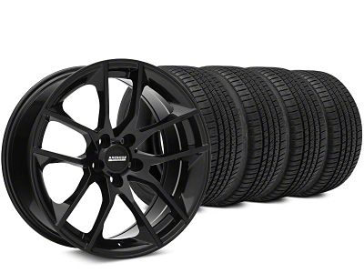 Magnetic Style Black Wheel & Michelin Pilot Sport A/S 3+ Tire Kit - 20x8.5 (15-19 GT, EcoBoost, V6)