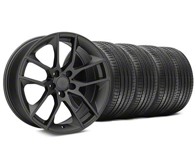 Magnetic Style Charcoal Wheel & Sumitomo HTR Z III Tire Kit - 20x8.5 (15-19 GT, EcoBoost, V6)