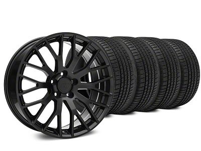 Performance Pack Style Black Wheel & Michelin Pilot Sport A/S 3+ Tire Kit - 19x8.5 (15-19 GT, EcoBoost, V6)