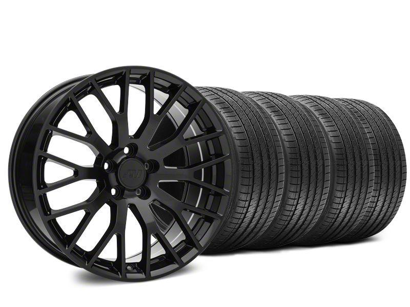 Performance Pack Style Black Wheel & Sumitomo HTR Z III Tire Kit - 20x8.5 (15-19 GT, EcoBoost, V6)