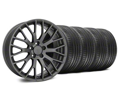 Performance Pack Style Charcoal Wheel & Sumitomo HTR Z III Tire Kit - 20x8.5 (15-19 GT, EcoBoost, V6)