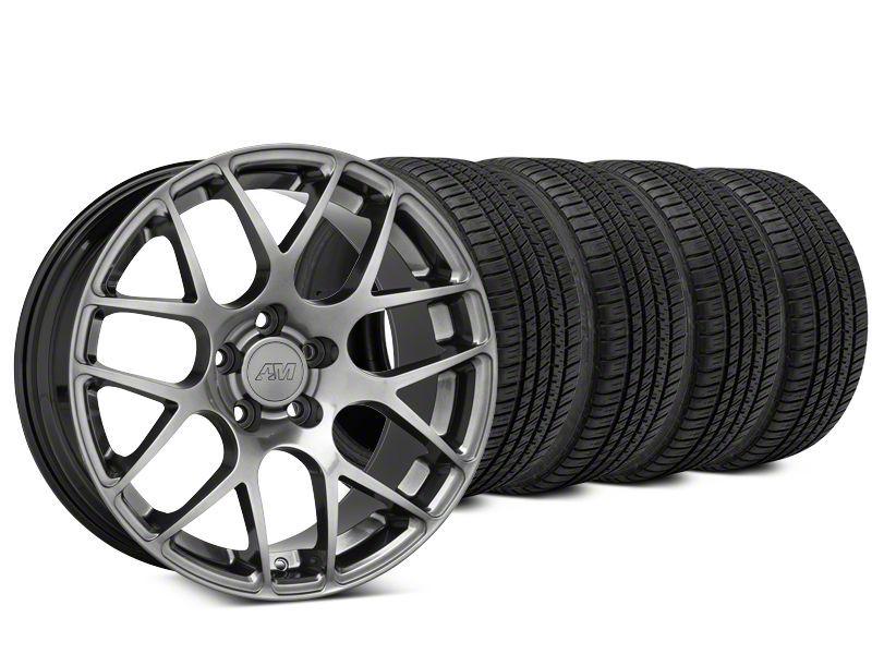 AMR Dark Stainless Wheel & Michelin Pilot Sport A/S 3+ Tire Kit - 19x8.5 (15-19 GT, EcoBoost, V6)