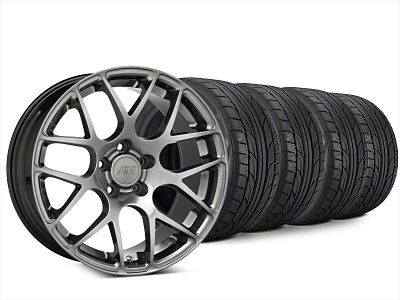 AMR Dark Stainless Wheel & NITTO NT555 G2 Tire Kit - 20x8.5 (15-19 GT, EcoBoost, V6)